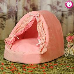 BOSUN Cute Small Pet Dog Bed House Indoor Detachable Wash Do