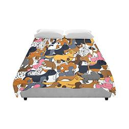 Artsadd Cute Seamless Pattern With Cartoon Dogs Duvet Cover