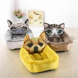 Cute Soft Puppy Kitty Dog Cat Pet Bed Nest Liner Kennel Pad