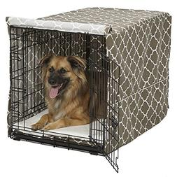 Midwest Homes for Pets CVR48T-BR Dog Crate Cover with Fabric