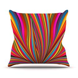 "Kess InHouse Danny Ivan ""Believer"" Multicolor Throw Pillow,"