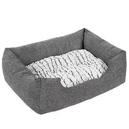 SONGMICS Delux Dog Bed Pet Nest Reversible Mat PV Plush Lini
