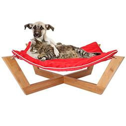 Jumbl Deluxe Large Bamboo Cat - Dog Hammock / Pet Lounge /