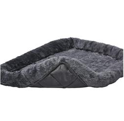 24L-Inch Gray Dog Bed or Cat Bed w/Comfortable Bolster | Ide