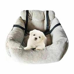 FOUR SEASONS Pet Dog Cat Bed Car Seat Carrier Booster Auto T