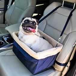 Devoted Doggy Deluxe Dog Booster Car Seat Metal Frame Constr