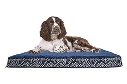 FurHaven Deluxe Memory Foam Plush Top Kilim Pet Bed for Dogs