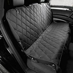 Peicees Deluxe Pet Car Seat Cover Black for Dog with Durable