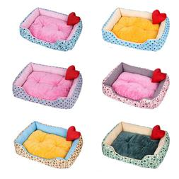 Deluxe Soft Dog Bed Pet Warm Basket Fleece Lining Cushion Pu