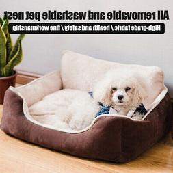 Detachable Washable Independent Pillow Dog Bed Rectangle Gro