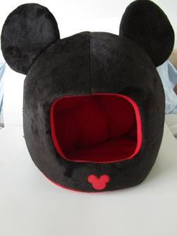 Mickey Mouse Dome Pet Bed Disney Enclosed Dog Cat Cushion Fu