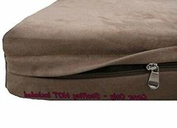 Dogbed4less DIY Durable Brown Microsuede Pet Bed