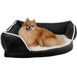 Dog & Cat Corner Pet Bed- Self Warming Couch Lounger- Cuddle