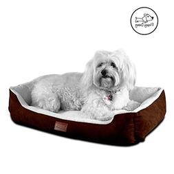 Floppy Dawg Medium Dog Bed With Bolsters | Removable, Machin