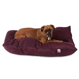 "Majestic Pet Products Dog Bed size: 35""L x 46""W x 7""H, Red"