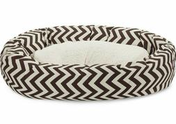 Dog Bed Chevron Sherpa Chocolate Brown Majestic Pet Bed