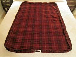 ORVIS DOG Bed Cover Burgundy Plaid EXTRA Large - Cover ONLY