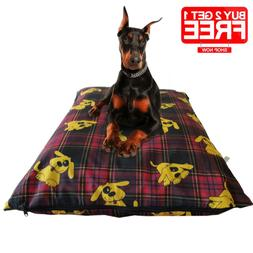 Washable Dog Bed Covers Removable Replacement Zipper Cushion
