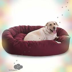 Dog Bed Faux Suede Bagel 52-inch  NEW. CHEAP. FREE SHIPPING