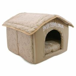 Dog Bed Indoor Dog House Cushion Sleeping Enclosure Pen Pet