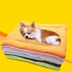 Dog Bed Kennel Mat Washable Comfortable Double Sides