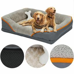Dog Bed Memory Foam Pet Bed with Removable Washable Cover an