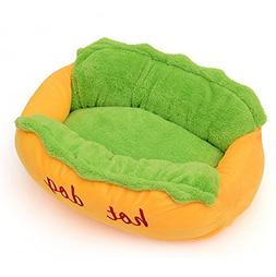 Younther Pet Hot Dog Design Pet Dog Bed,Soft Removable and W