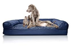 FurHaven Pet Dog Bed | Orthopedic Quilted Sofa-Style Couch P