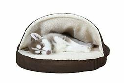 FurHaven Pet Dog Bed | Orthopedic Round Snuggery