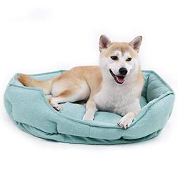 PAWZ Road Dog Bed Pet Bolster Bed with Raised Rim Supporting