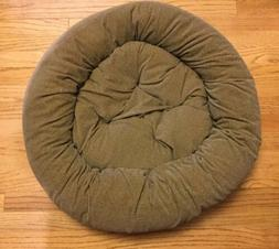 "Snoozer Dog Bed Pillow Nesting Style 26"" Round - Brown Her"