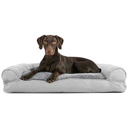 FurHaven Pet Dog Bed | Plush & Suede Pillow Sofa-Style Couch