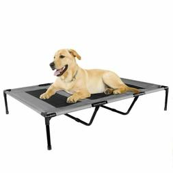 Dog Bed Portable Elevated Indoor Outdoor Grey X-LARGE 48 x 3