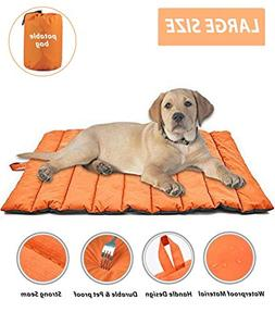 Cheerhunting Outdoor Dog Bed Portable Travel Dog Bed Extra L