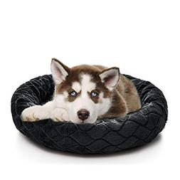 SHU UFANRO Small Dog Bed Round Donut for Crate Comfortable P