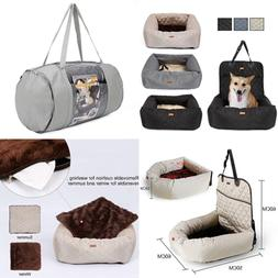 Dog Car Seat Bed 2 In 1 Cover For Pets W Waterproof & Nonsli