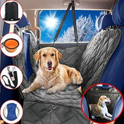 Dog Car Seat Covers Hammock for Pets-Back Seat and Doors Pro