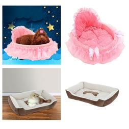 Dog Cat Bed House Warm Bed Puppy Princess Bows Lace Heart El