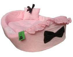 Dog Cat BED with removable pad and pillow for Pet HDP Bassin