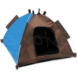 Poity Dog Cat Camping Gear Set with Pet Tent and Outdoor Bed