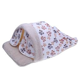Jocestyle Dog Cat House Bed Folding Soft Autumn Winter Warm
