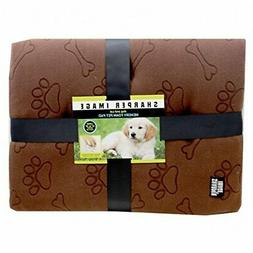 Sharper Image Dog and Cat Memory Foam Pet Pad Bed Brown