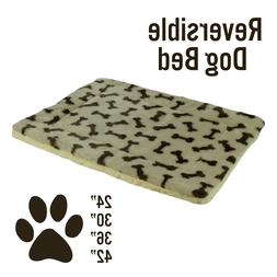 Dog Cat Pet Bed Mat Crate Kennel Cage Fleece Sherpa Pad Reve