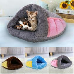 Dog Cat Pet Cave Bed House Warm Kennel Soft Pad Puppy Sleepi