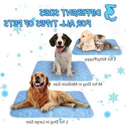 Dog Cooling Mat Pet Cat Chilly Non-Toxic Summer Cool Bed Pad