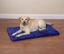 Dog Crate Mat Bed Grey or Blue Warm Plush Soft Dogs Kennel B