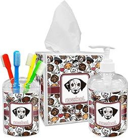 RNK Shops Dog Faces Bathroom Accessories Set