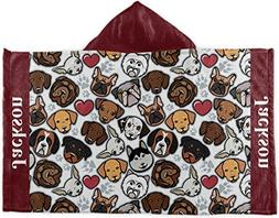 RNK Shops Dog Faces Kids Hooded Towel