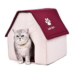 PAWZ Road Dog House For Medium and Small Pets Red Roof
