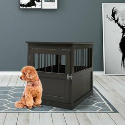 Dog Kennel Pet Crate Wooden Pet Cage End Table Furniture Ind